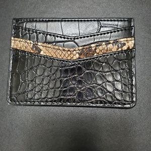 Black and brown card case